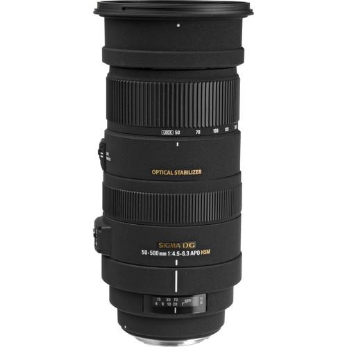 Sigma 50-500mm f/4.5-6.3 APO DG OS HSM Lens for Canon EOS(SIGMA MSIA)