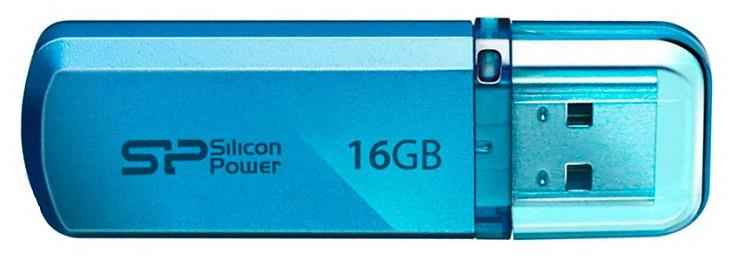 Silicon® Power Helios 101 Flash Drive -  Aqua Blue 16GB