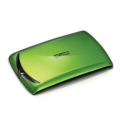 Silicon Power Stream S10  1TB 2.5' USB3.0 Portable Hard Drive - Green