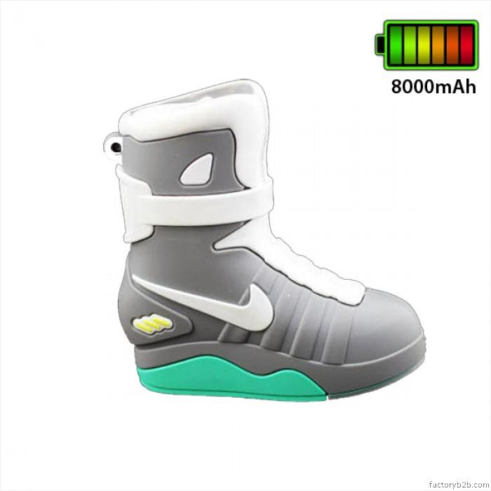 Silicon Rubber Nike Shoe Back The Future Designed 8000mAh Power bank