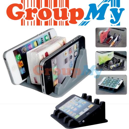 Silicone Anti Slip Mat Phone Holder Stand iPhone Samsung LG Nokia