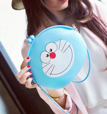 Silicone bag doraemon bag big bag shoulder bag Messenger bag change