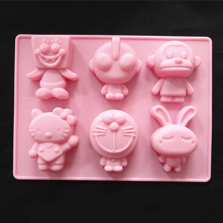 Silicone Cute Cartoon Mold 6 in 1