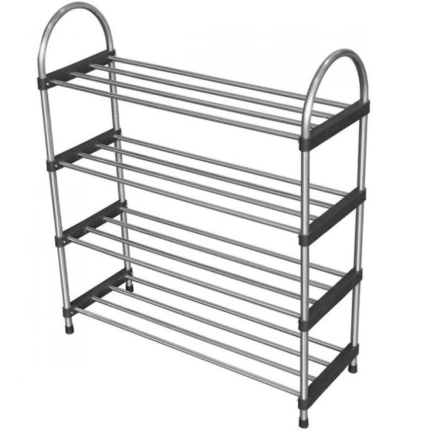 SIMPLE - 4 Layers Stainless Steel Shoes Rack