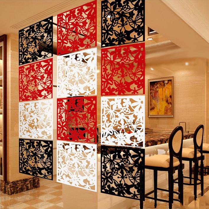 an idea of cheap partition for living hall