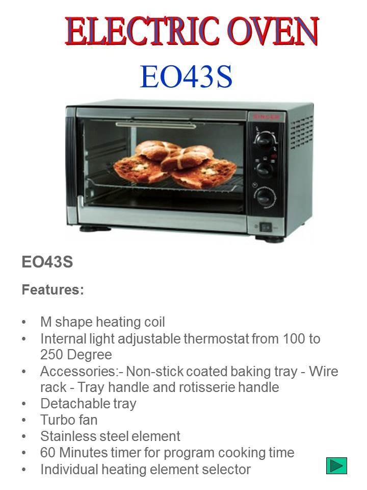 SINGER EO43S Electric Oven