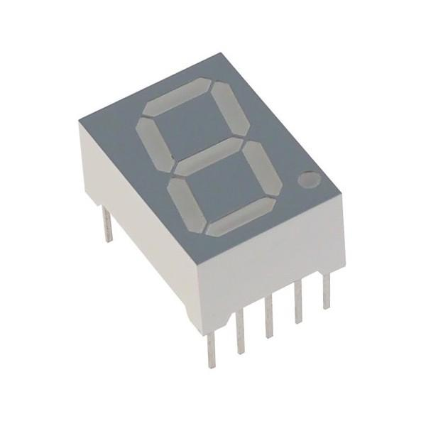 Single Digit 7 Segment Display / Common Cathode / 0.5 inch / Red