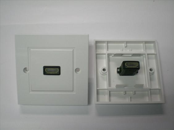 SINGLE HDMI FACE PLATE WALL PLATE