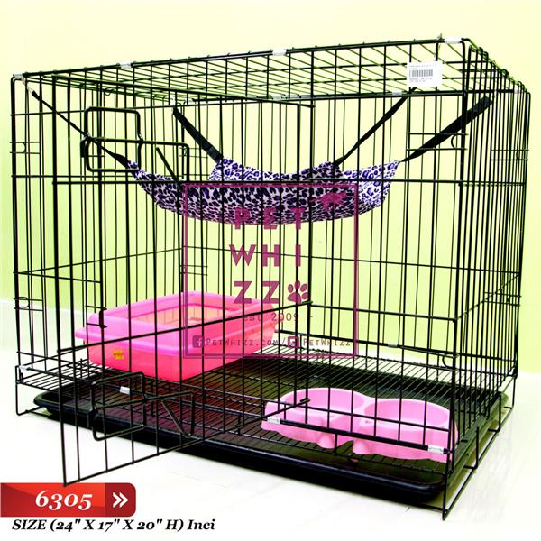 Single Pet Cages Big Besar For Kucing Cat Rabbit [PetWhizz]