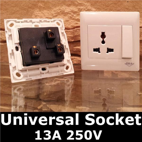 Single Universal 1 GANG Electrical Switch Socket MAIN 240V NEW DIY kit