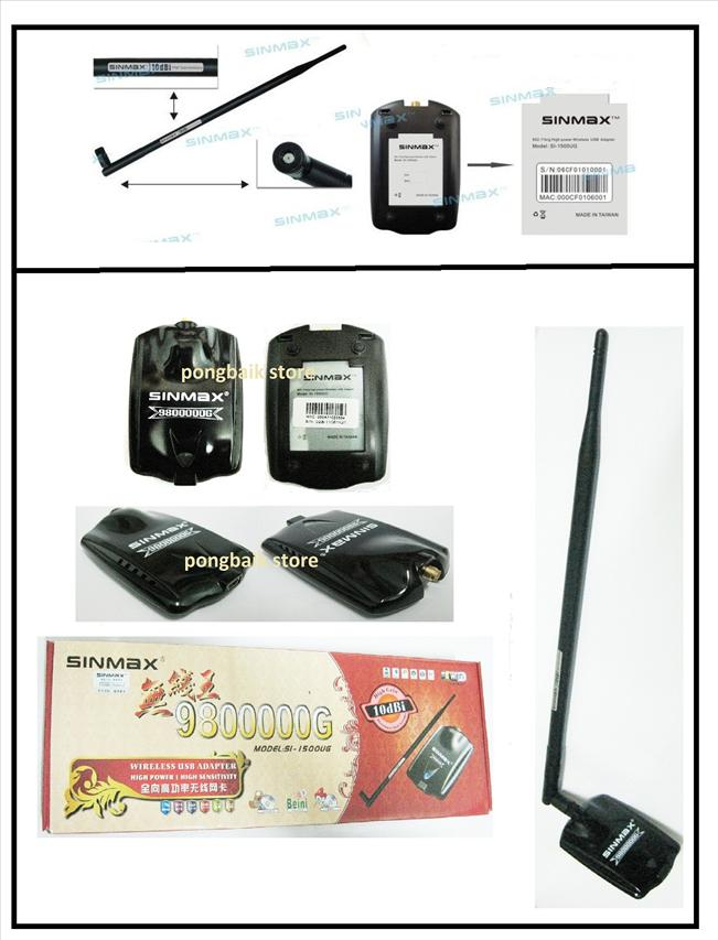Sinmax 9800000G Long Antenna Wifi Booster Wireless USB Adapter Realtek..