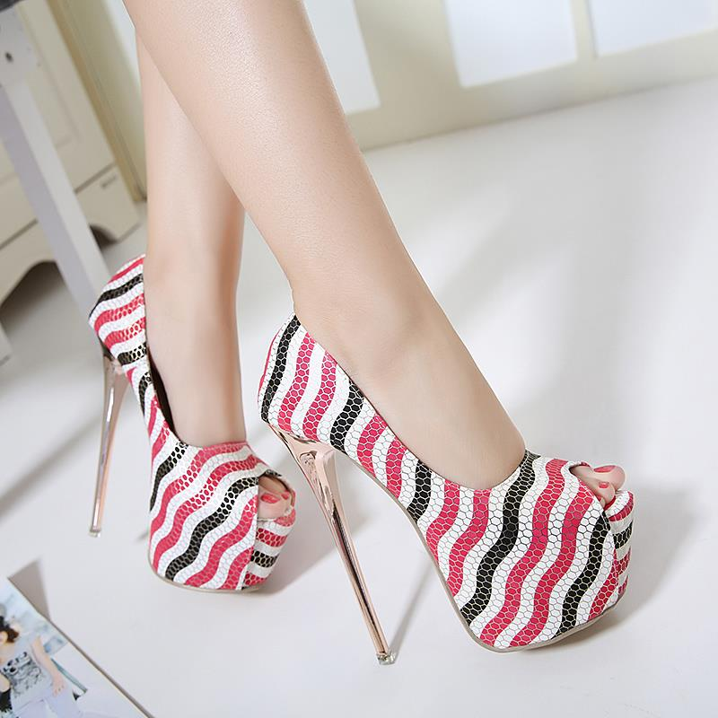 Size 35-40 ~ JNY Striking Open Mouth 16CM High Heel