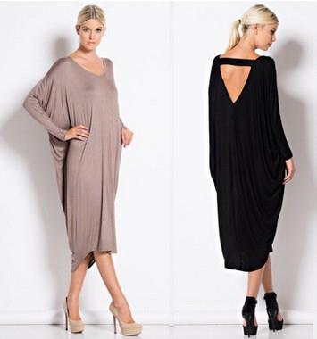 Size S-XL ~ Euro Fashion Long Sleeve Ladies Loose Dress