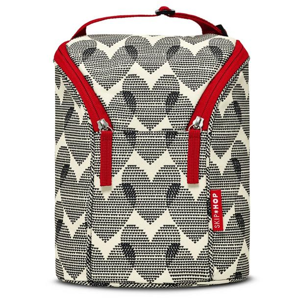 Skip Hop Grab & Go Double Bottle Bag - Hearts 100% Authentic