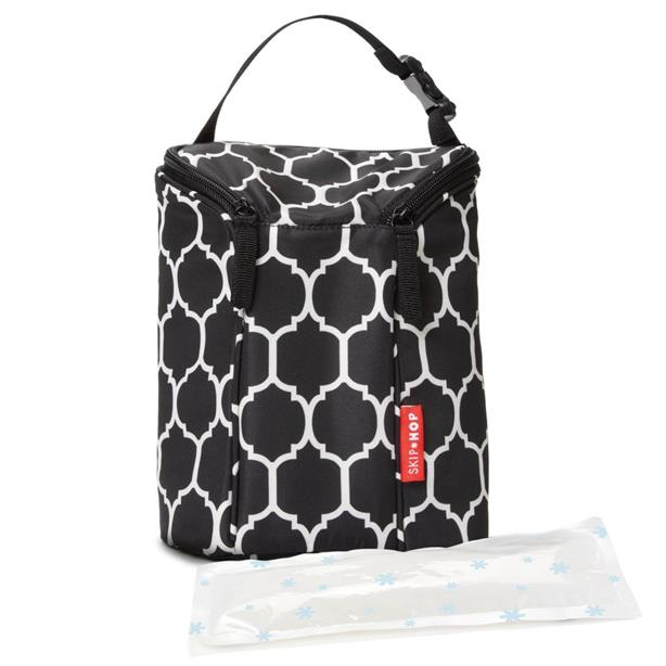 Skip Hop Grab & Go Double Bottle Bag - Onyx Tile 100% Authentic
