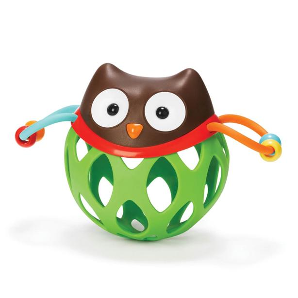 SKIP HOP ROLL-AROUND RATTLES + TEETHER OWL
