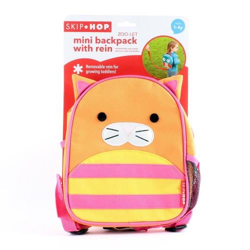 Skip hop Zoo Let Mini Backpack with Rein - CAT 100% Authentic