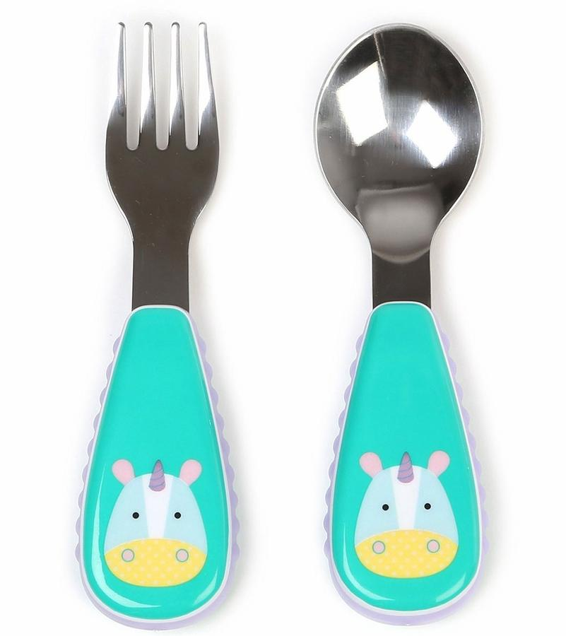 Skip Hop Zootensils - Fork & Spoon Unicorn (100% Authentic)