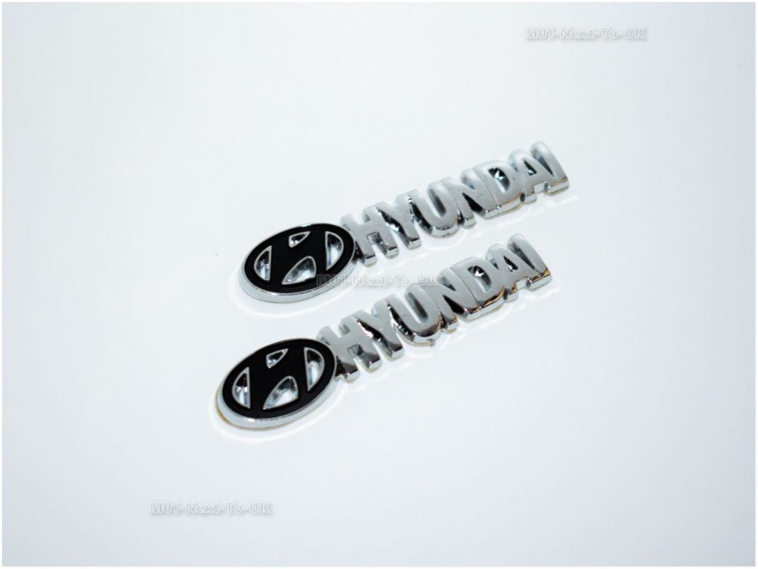 SKU#BTQF Hyd Black Chrome Badge Emblem Logo Fender Chromed 3D Car Au