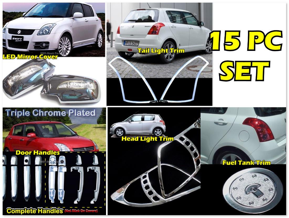SKU#CVAI Suzuki Swift For Suzuki Swift Trim Set Head Tail Ligh 15Pc