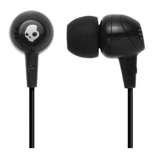 SKULLCANDY JIB WIRED EARPHONES (BLACK)