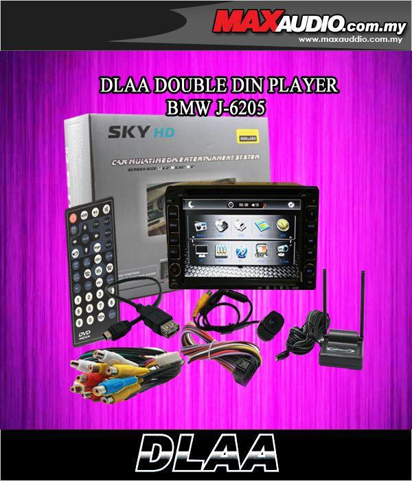 SKY AUDIO J-6205 6.5' Full HD Double Din DVD Player Free Camera & TV