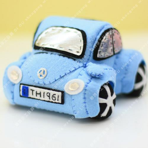 Sky Blue Mini Beetle felt diy kits 迷你甲壳..