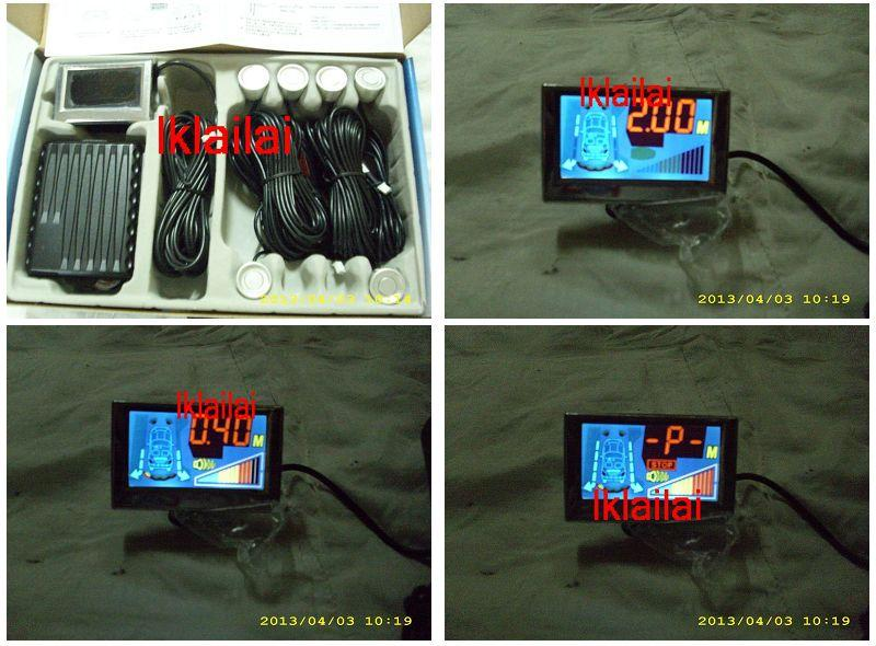 SKYEYES 6-Eyes Reverse Sensor With LCD Monitor Dual CPU System