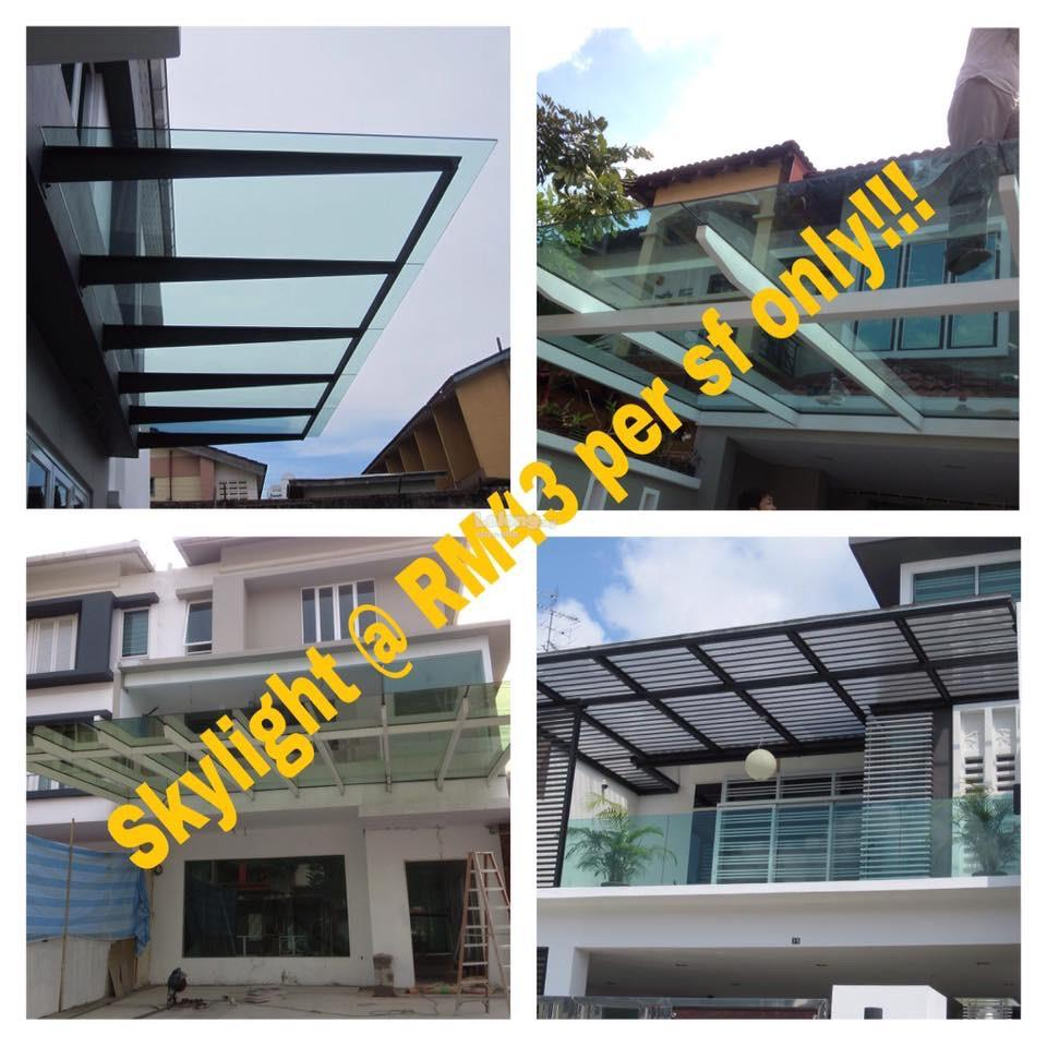 ** Skylight Glass Roofing