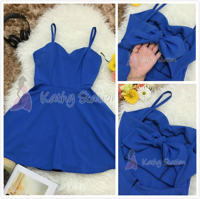 Sleeveless Chiffon Dress Sexy Back [10100]