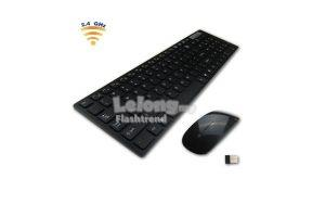 Slim Wireless Keyboard And Mouse Set (Free Shipping)