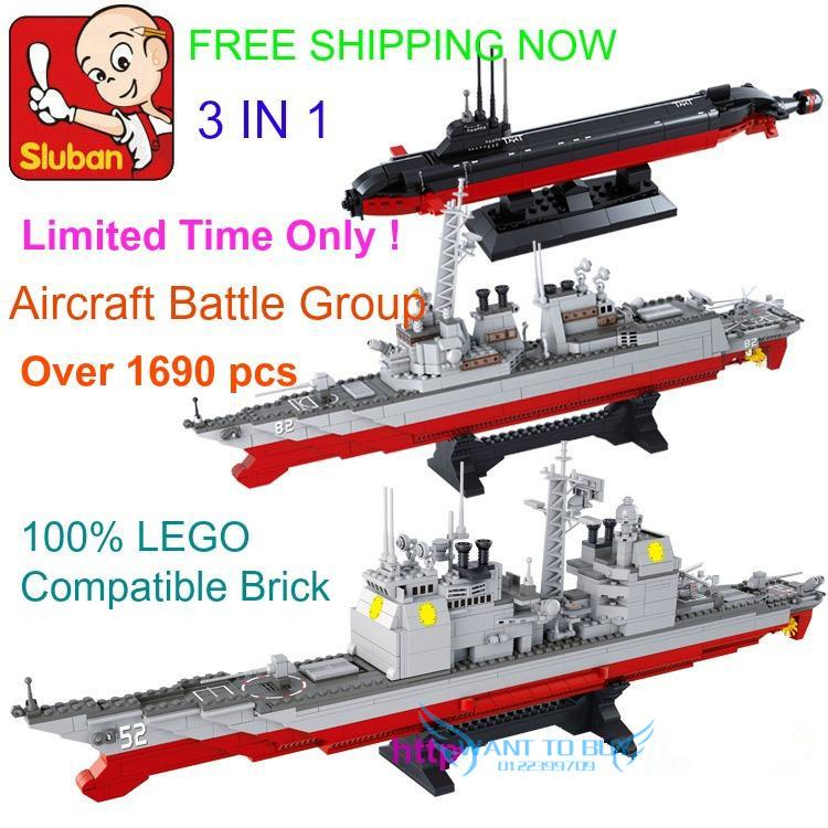 SLUBAN Aircraft Battle Group(3 IN 1) LEGO Brick (FREE SHIPPING + FREE
