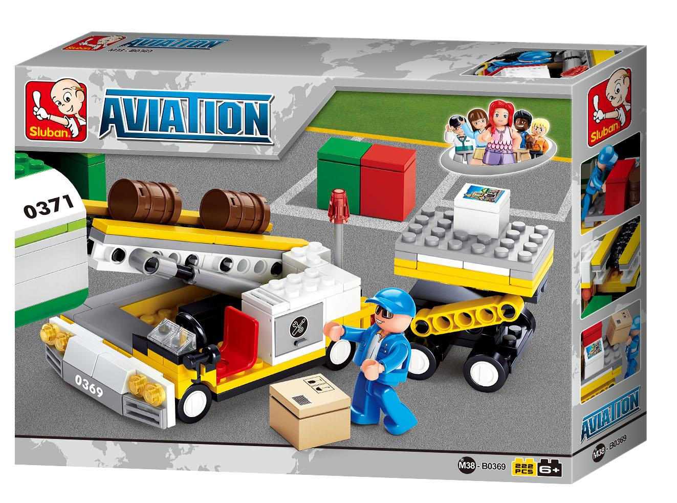 SLUBAN B0369: Aviation - Aircraft Carco (222pcs) 100% Lego Compatible