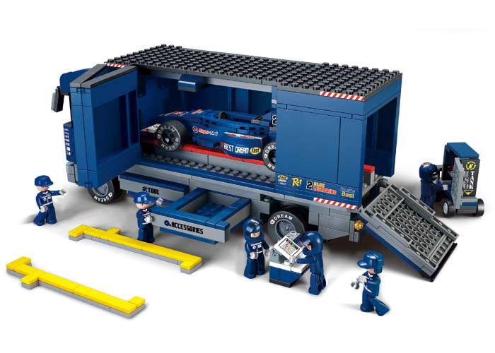 Sluban F1 Racing Truck Lego Brick Compatible