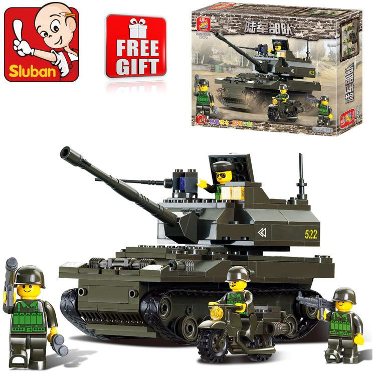 SLUBAN K-9 Tanker Amy Land Forces LEGO Compatible Brick + Free Gift