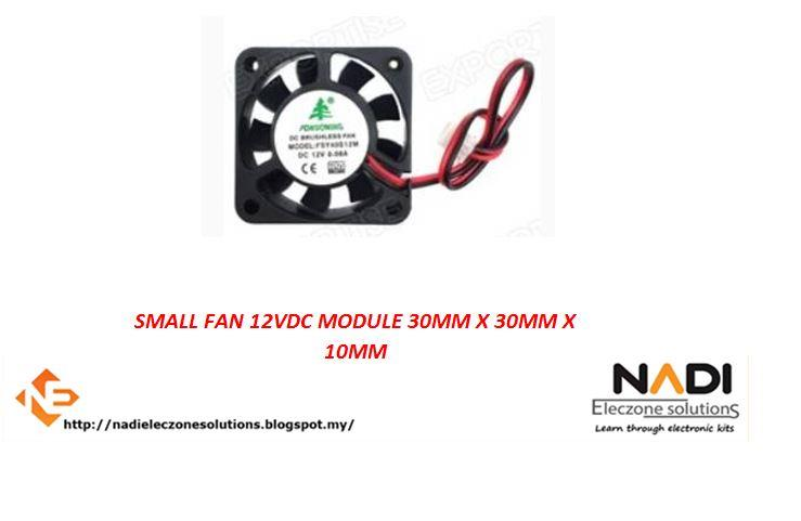 SMALL FAN 12VDC MODULE 30MM X 30MM X 10MM