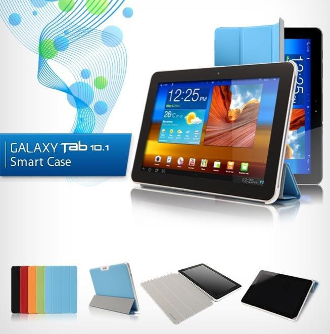 Smart Cover Case For Samsung Galaxy Tab 8.9 P7300 P7310 with baseholde