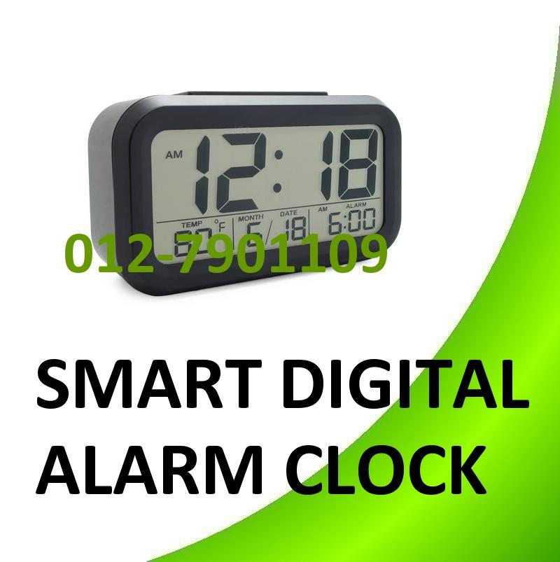 Smart Digital LED Alarm Clock With Touch Sensor Temperature Snooze