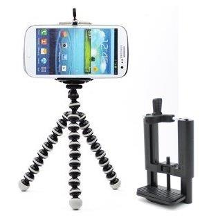 Smart Mobile Phone Handphone Holder (50-100mm) + Mini Flexible Tripod