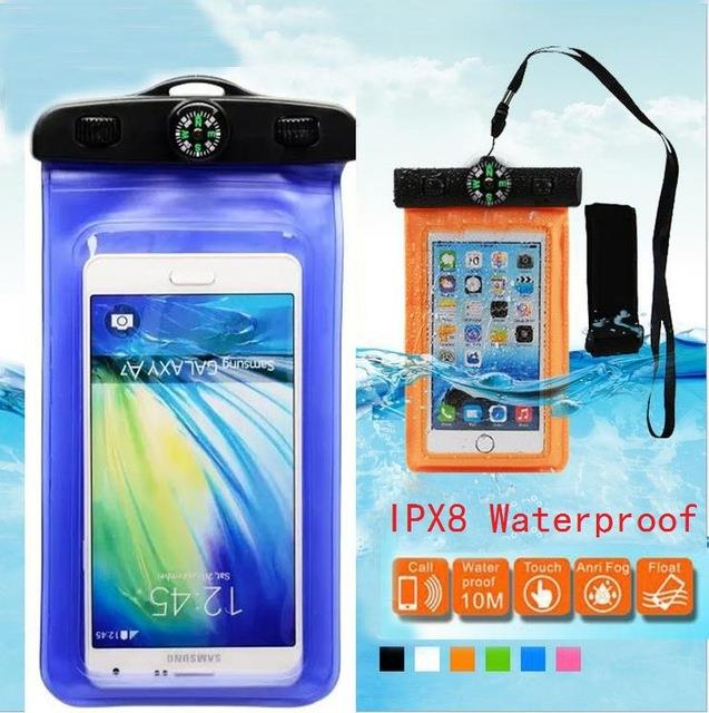 Smart Phone Waterproof Bag Case w compass