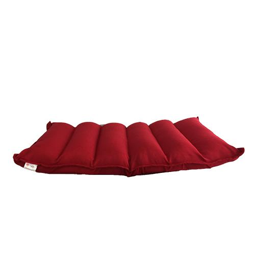 Smartux Linen Fabric Sumato Adjustable Futon Sofa (Red)