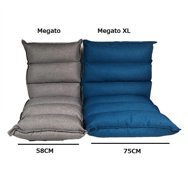 Smartux MegatoXL Linen Fabric Folding Futon Sofa - Blue