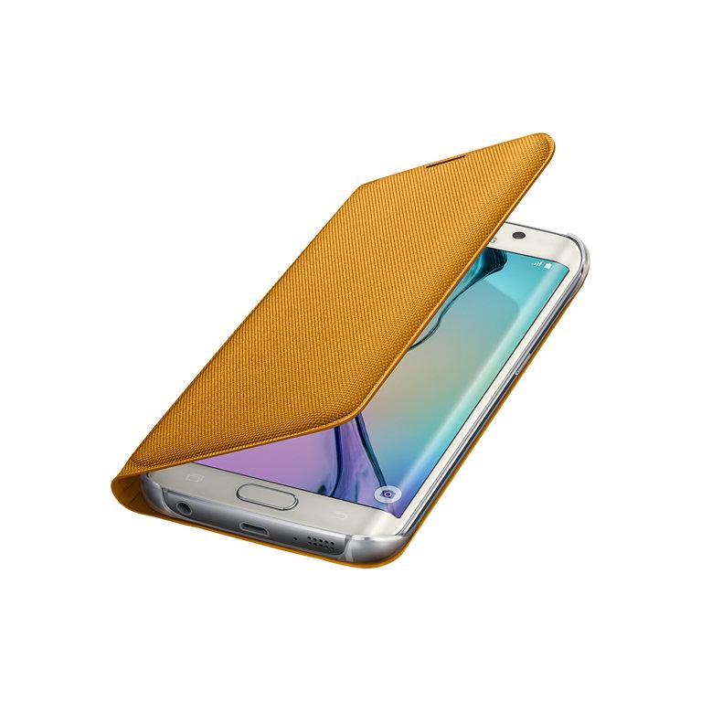 SME Galaxy S6 edge Wallet Flip Cover YELLOW
