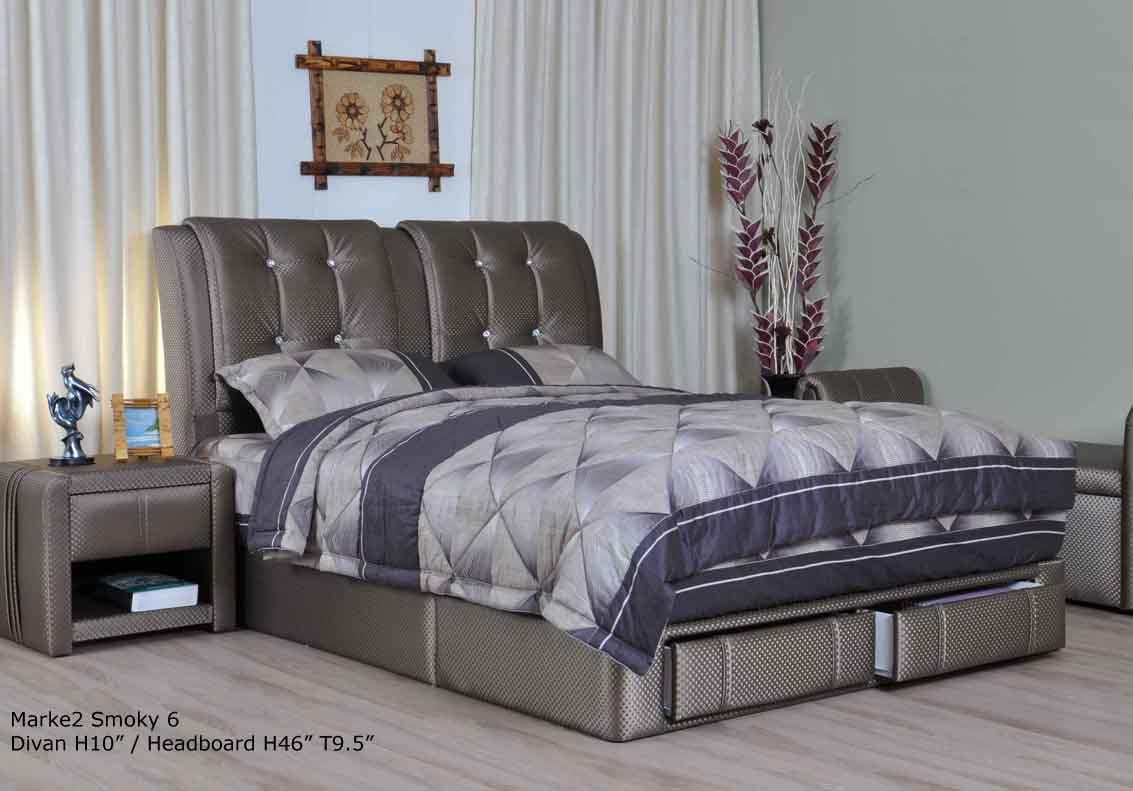 Smoky upholstered storage di end 12 20 2015 3 15 pm myt for Upholstered divan bed