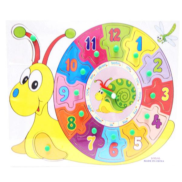 Snail Clock Learning Board  (For Ages 3 Years +)