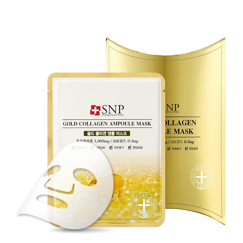 SNP Gold Collagen Ampoule Mask (10pcs)
