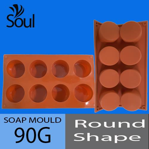 Soap Mould - 8x90G Round Shape