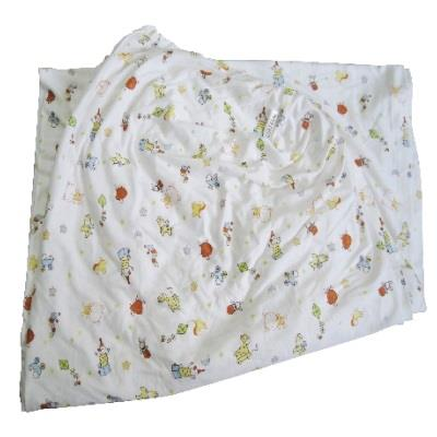 Soffy Poffy: Fitted Crib Sheet Playful Friend Bamboo Cotton