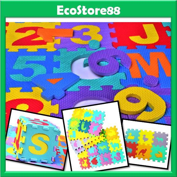 Soft Foam Play Mat Baby Kids Alphabets & Numbers / Animal Models 36pcs