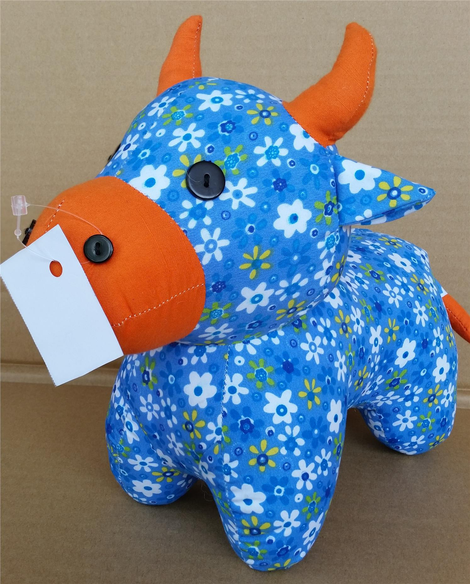 Soft toy - Cow (blue)